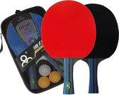 Professionele tafeltennis set | Pingpong batjes voor kinderen en volwassenen