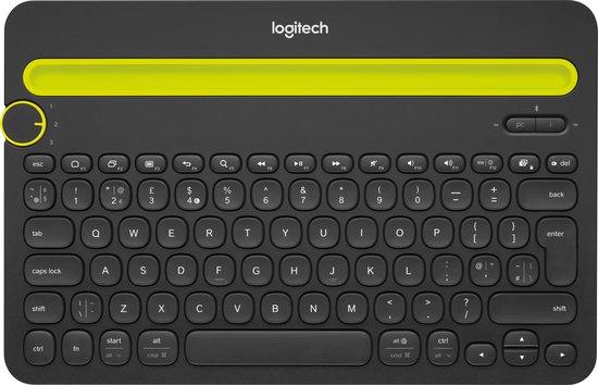 Logitech K480 - Draadloos Bluetooth Toetsenbord - QWERTY / Zwart