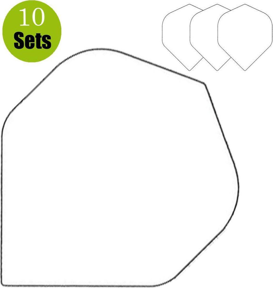 Poly Plain Dartflights - Wit- (10 Sets)