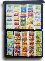 Pickwick Proeverij Pakket - Theepakket met 50 verschillende theesmaken | Mystery Card met persoonlijke online (video)boodschap | Ideaal cadeau voor verjaardag | Elke theedrinker wordt blij van dit thee proeverijpakket