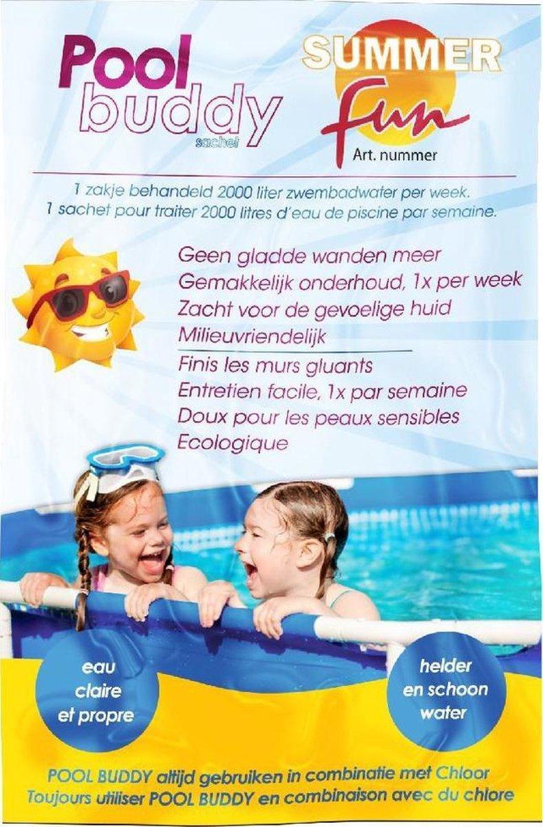 10x Sachet Pool Buddy anti gladde zwembadwanden en bodem - Hygiënisch zwembadwater onderhoudsmiddelen