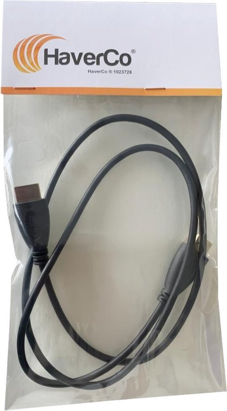 HDMI kabel 100cm 1 meter Gold Plated High Speed male-male / 1080P 3D support - Merkloos