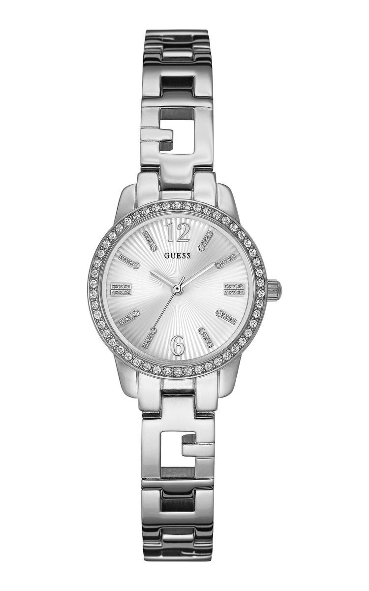 GUESS Watches - W0568L1 Charming - Horloge - 27.5 mm - Zilverkleurig - GUESS