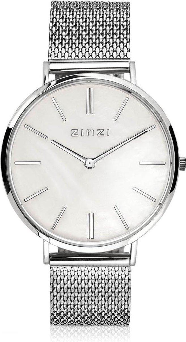 Zinzi Watches Retro horloge Zilverkleurig