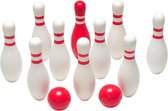 BS Bowling - Hout - Rood & Wit