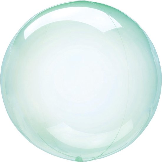 Anagram Folieballon Clearz Petite Crystal 30 Cm Transparant Groen
