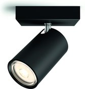 Philips Kosipo - Opbouwspot - 1 Lichtpunt - zwart