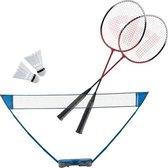 Badmintonset AB met net en koffer