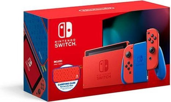 Nintendo Switch Console - Rood / Blauw - Nieuw model - Super Mario Limited Edition