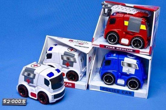 Brandweer/politie/ambulance 3assorti