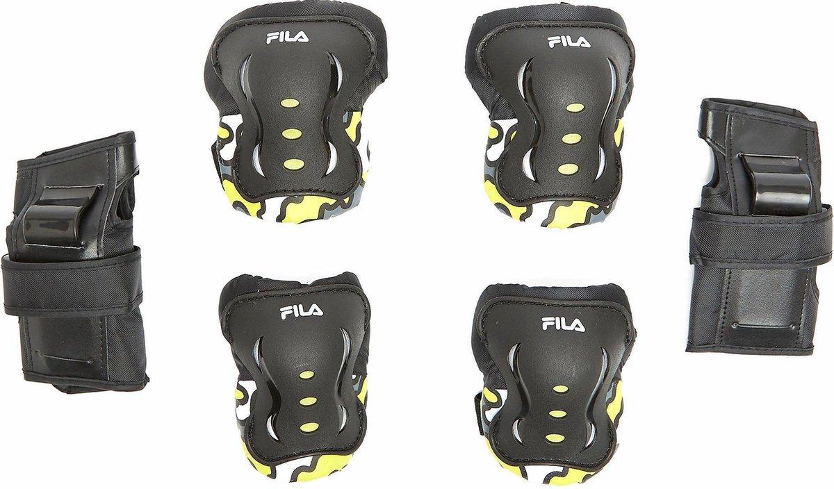 Fila Skate Beschermingsset Zwart/Geel Kinderen - Maat XS