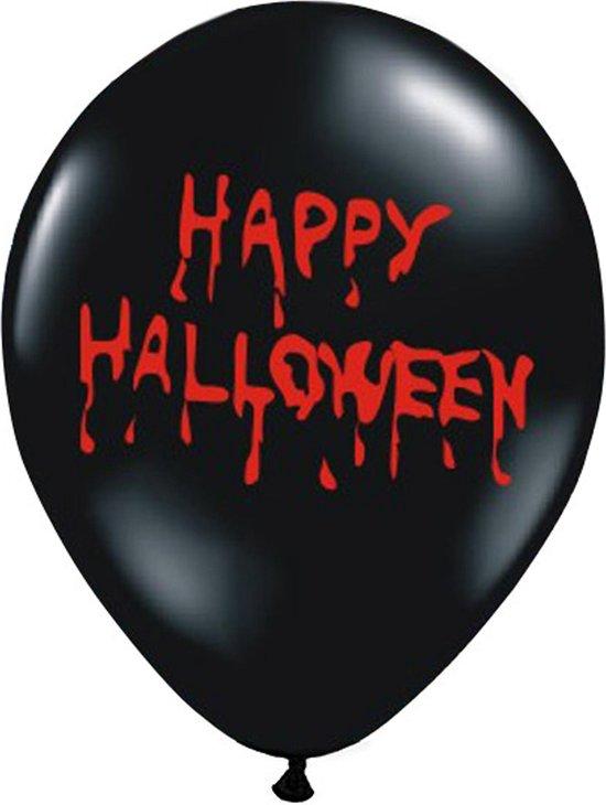 PARTYDECO - 6 bebloede Happy Halloween ballonnen - Decoratie > Luftballons