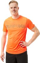 Puma Run Logo Hardloopshirt Oranje Heren