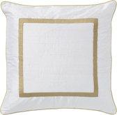 PALAIS - Kussen Grace Off White - 100% biologische ruwe zijde - Handgemaakt - Duurzaam
