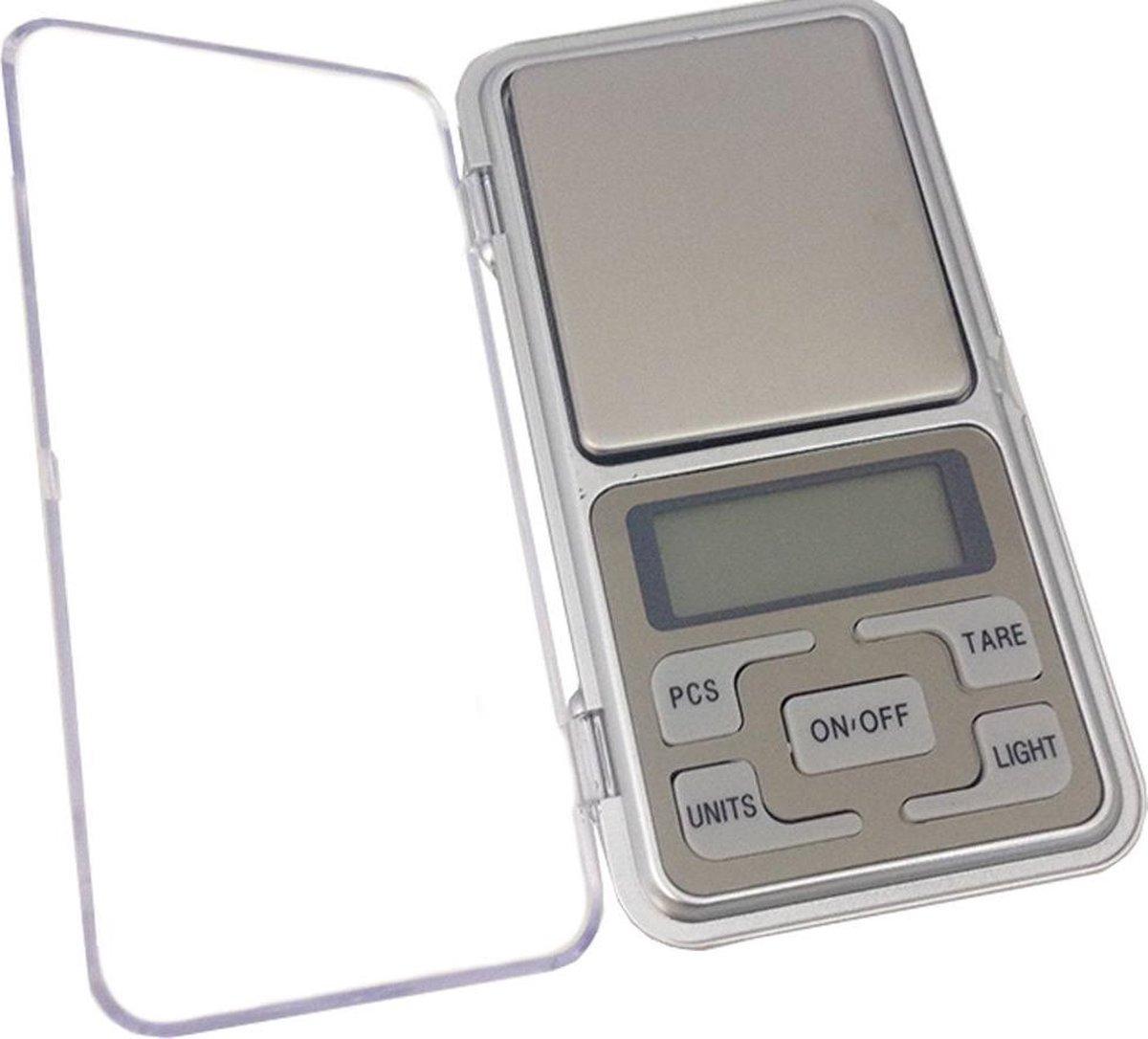 Mini Precisie Weegschaal - Van 0,01 tot 200 gram - Zilver