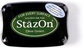 Stazon sneldrogend stempelkussen Olive Green
