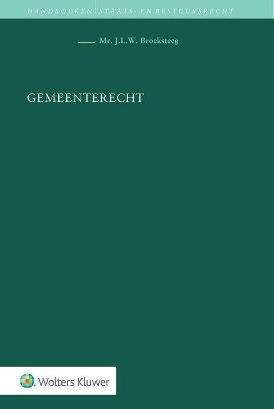 Boek cover Gemeenterecht van J.L.W. Broeksteeg (Hardcover)