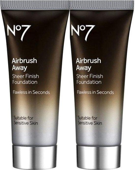 No7 Airbrush Away Sheer Finish Foundation Light 2x40ml