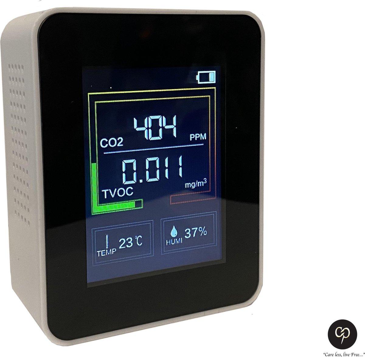Carefree CO2 Meter - CO2 Meter Horeca - Luchtkwaliteitsmeter - Temperatuurmeter - CO2 meter binnen -