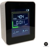 Carefree Products CO2 Meter - CO2 Meter Horeca - Luchtkwaliteitsmeter - Temperatuurmeter - CO2 meter binnen - Luchtvochtigheidsmeter- Hygrometer - CO2 melder - Draadloos