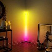 HOFTRONIC™ - LED Vloerlamp Aurora - Zwart - Nordic Design Staande Lamp - RGB kleuren licht - Incl Afstandsbediening