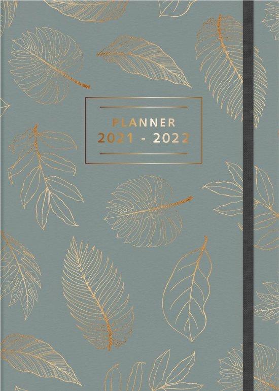 Afbeelding van Hobbit schoolagenda 2021-2022 - A4 D4 - elastiek - gebonden met linnen rug - rugloos - 7 dagen over 2 paginas - harde kaft met zacht effect - 144 paginas - grijsgroen - groot A4 formaat