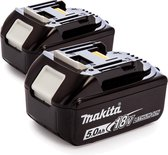 Makita BL1850B Duopack 18V Li-Ion accu - 5.0Ah (2st)