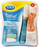 Scholl Velvet Smooth Elektrisch Nagelvijl Blauw - 1 stuk