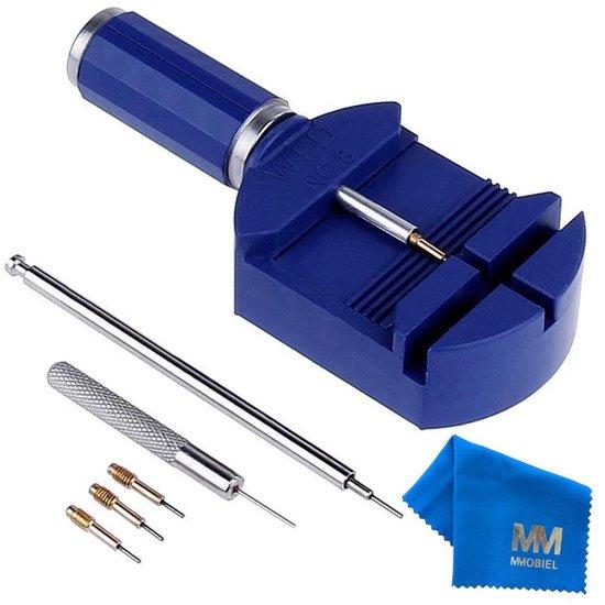 MMOBIEL Horlogeband Inkorter/Inkortset – Reparatieset Incl. Stalen Pons, 3 Pinnen En Veerdrukker