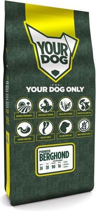 12 kg Yourdog pyreneese berghond volwassen hondenvoer