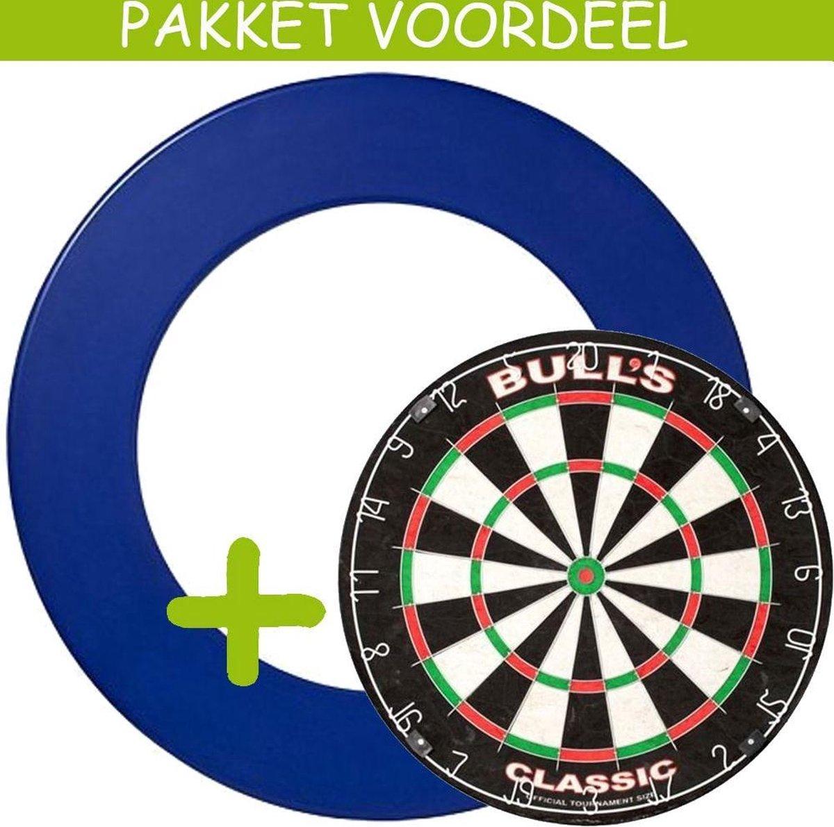 Dartbord Surround VoordeelPakket - Bulls Classic - Rubberen Surround-- (Blauw)