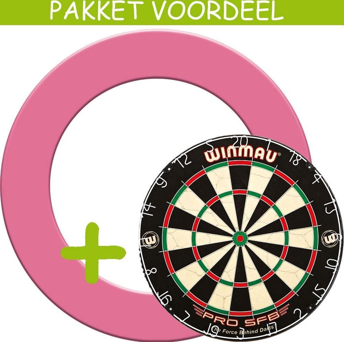 Dartbord Surround VoordeelPakket - Pro SFB - Rubberen Surround-- (Roze)