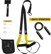 Beeletix TRX Suspension Trainer Set met Deuranker en Opbergtas - Zwart/Geel