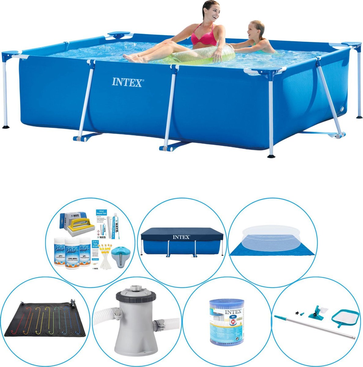 Intex Frame Pool Zwembad Super Deal - 220 x 150 x 60 cm