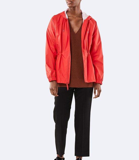 Rains W Jacket 1268 Regenjas Vrouwen - Rood - Maat XS/S