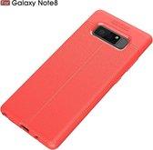 Let op type!! Voor Galaxy Note 8 Litchi textuur TPU beschermende Back Cover Case (rood)