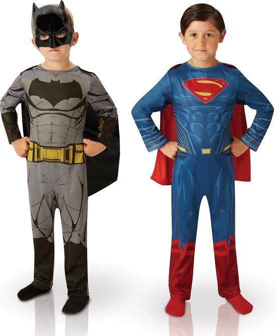 RUBIES FRANCE - 2 kinder kostuums Batman vs Superman Dawn of justice - 110/116 (5-6 jaar)