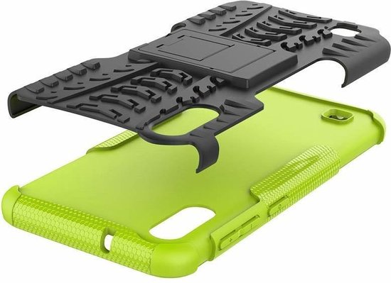 Samsung Galaxy A10 hoes - Schokbestendige Back Cover - Groen
