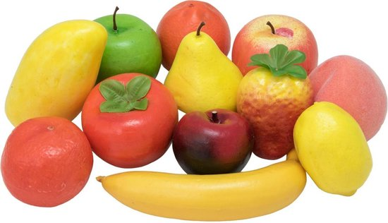 Bol Com Europalms Gemengd Fruit In Een Zak 12x Kunstfruit Fruit Decoratie