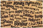 CKB - Bonjour, Au Revoir - Kokosvezel Deurmat - Tekst - 60 x 40 - Bruin