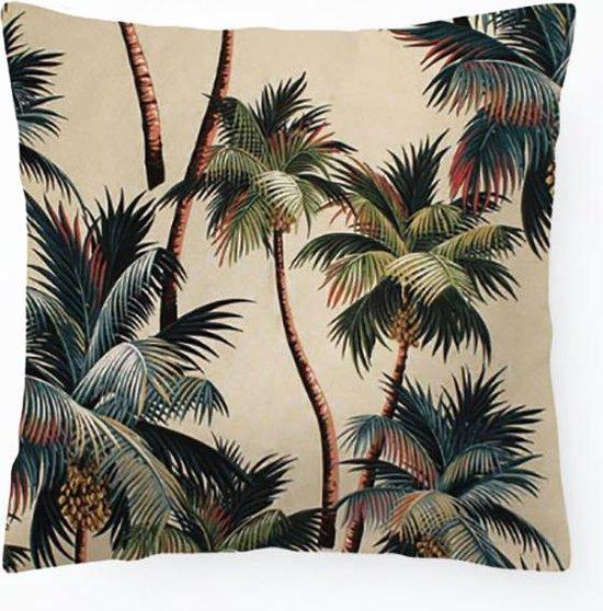 Kussenhoes Vintage California Palmtrees   Kussen Tropisch Vierkant