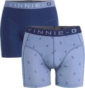 Vinnie-G Boys kinder boxershorts Ski Dark - Print 2-Pack-140/146