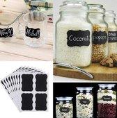 40X Premium Keuken krijtbord etiketten  - Labels - blackboard Etiketten- Krijtbord stickers - Schoolbord stickers - 40 stuks!