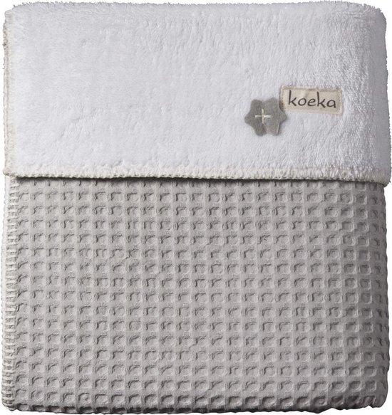 Koeka - Deken Ledikant Oslo 150x100 cm - Silver Grey/White