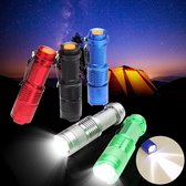 3st 3 kleuren MECO Q5 500LM Multicolor Zoomable Mini LED zaklamp 14500 / AA