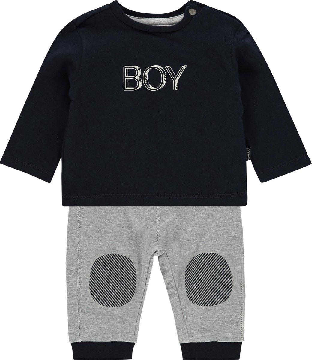 Noppies Lange mouwen T shirt met broek Alton Dark Sapphire Maat 86