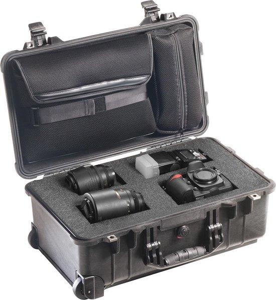 Peli Case   -   Camerakoffer   -   1510    -  Zwart   -  incl. plukschuim en laptophoes in deksel  50,100000 x 27,900000 x 19,300000 cm (BxDxH)