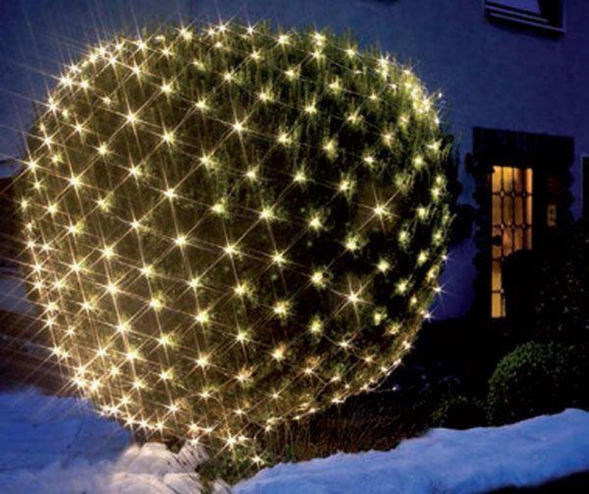 LED lichtnet - 200 warmwitte LEDs - 3 x 3 meter - voor binnen en buiten