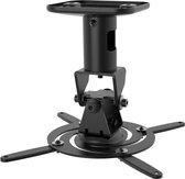 Beamer Plafondbeugel - 360° Draaibaar en 180° Kantelbaar - Plafond-afstand 21,5cm - Tot 15kg - Zwart
