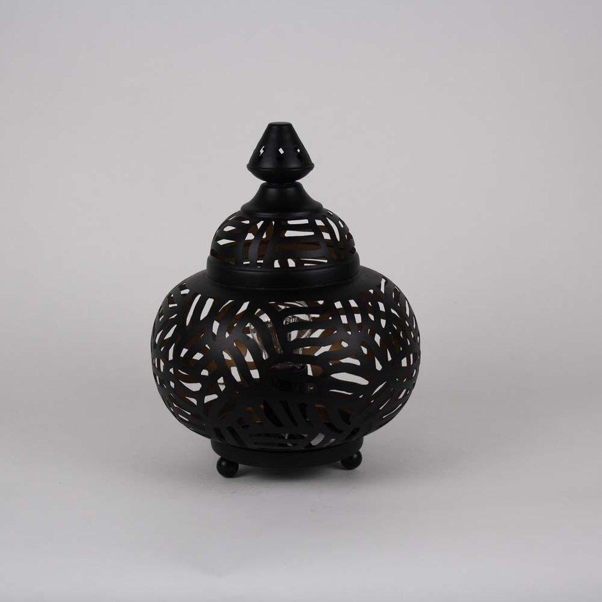 Arabische Tafellamp Zebra Almyra Zwart Goud Ø 23 x 31cm